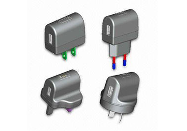 EU / US / UK / AU metal plug-in 5v 1A Universal USB Power Adapter (OCP / protezione OVP)